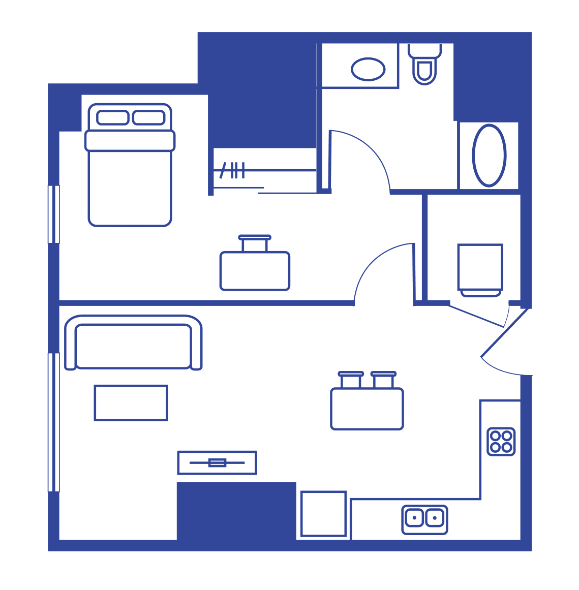 1 Bedroom 1 Bath – Lark At Kohl